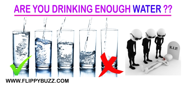not drinking enough water